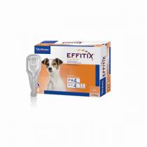 Effitix Spot-On Soluz 4 Pipette 1,10 Ml 67 Mg + 600 Mg Cani Da 4 A 10 Kg