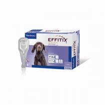 Effitix Spot-On Soluz 4 Pipette 2,20 Ml 134 Mg + 1.200 Mg Cani Da 10 A 20 Kg