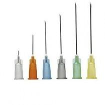 Ago Pic Sterile Monouso In Blister Singolo Peel Pack Cono Luer Lock Gauge19 1,10X25mm Codice Colore Crema 100 Pezzi