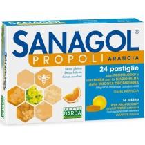 Sanagol Propoli Senza Zucchero Arancia 24 Caramelle