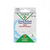 Profar Cerotto Post Operatorio Sterile Con Garza Antiaderente 5X7,5 Cm - 5 Pezzi