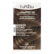 Euphidra Colorpro Xd 600 Biondo Scuro Gel Colorante Capelli In Flacone + Attivante + Balsamo + Guanti