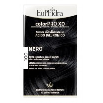 Euphidra Colorpro Xd 100 Nero Gel Colorante Capelli In Flacone + Attivante + Balsamo + Guanti