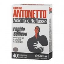 Digestivo Antonetto Acidità E Reflusso 40 Compresse Masticabili