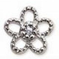 Orecchino Post-Foratura Elegant Flower Crystals Bjt967