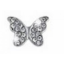 Bjt979 Orecchini Post-Foratura Butterfly Crystals 10Mm